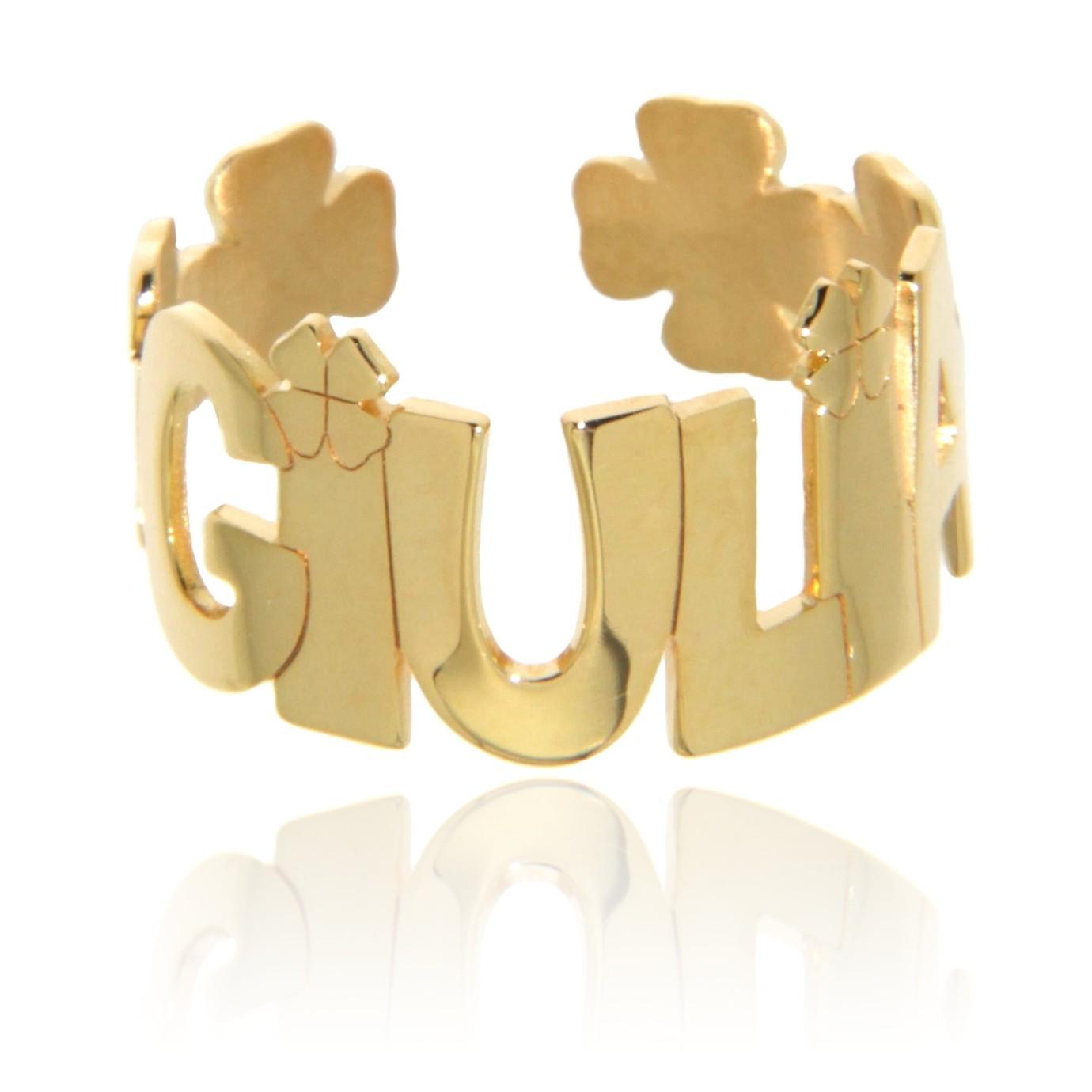Lucky giallo (anello regolabile)