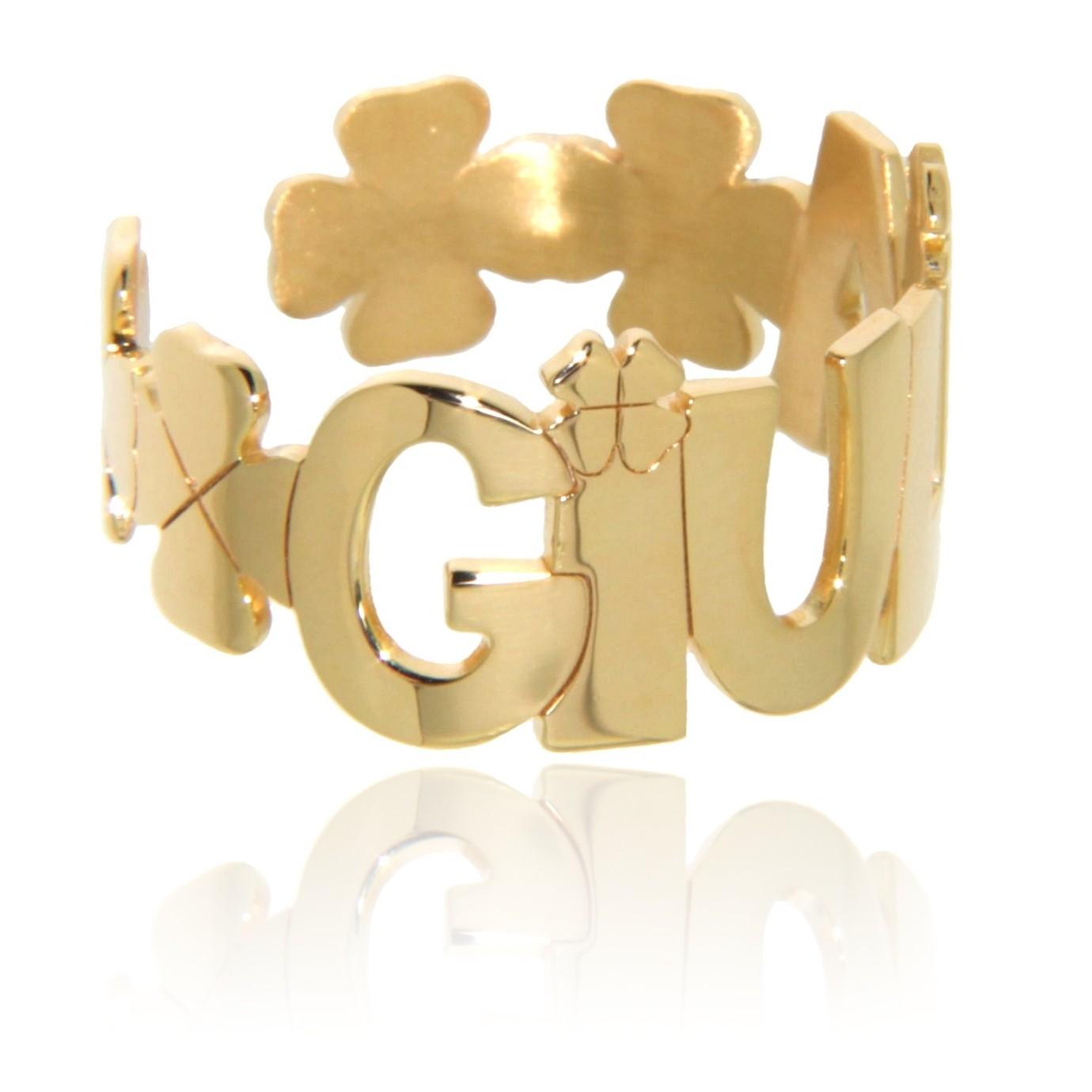 Lucky (anello con nome personalizzabile e regolabile)