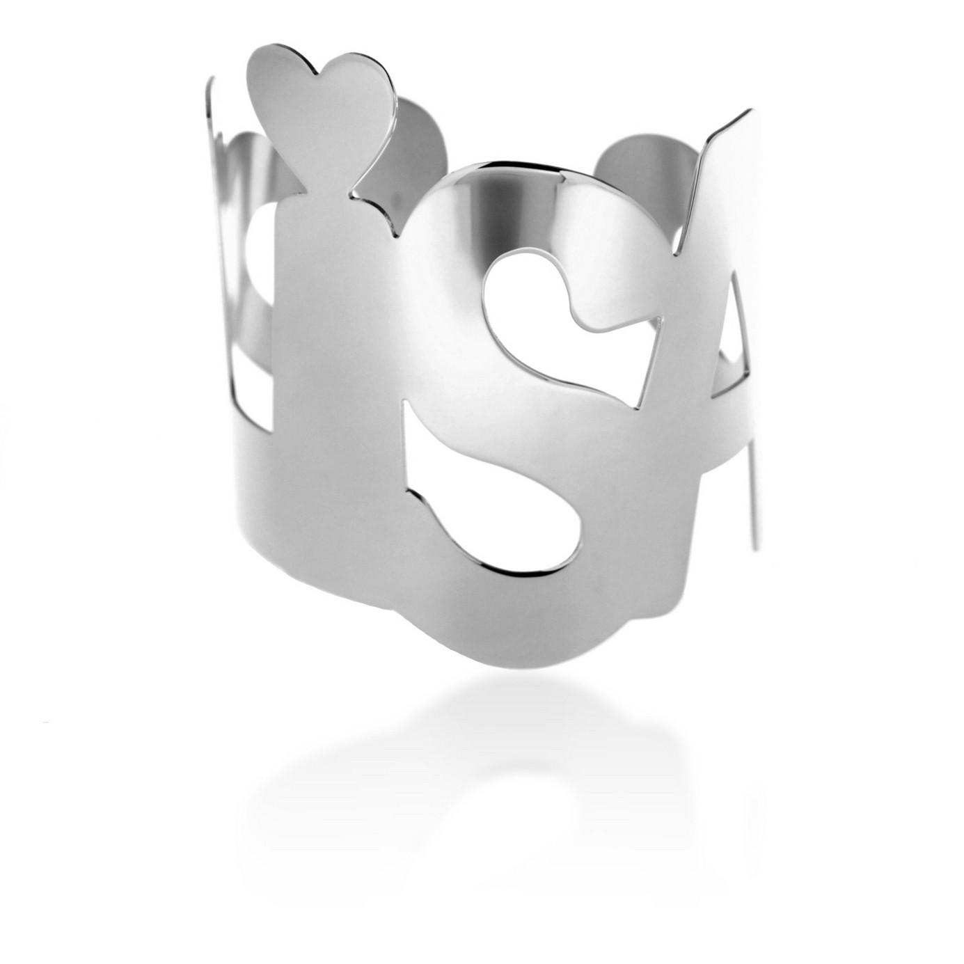 Bracciale personalizzabile con nome maxi bianco
