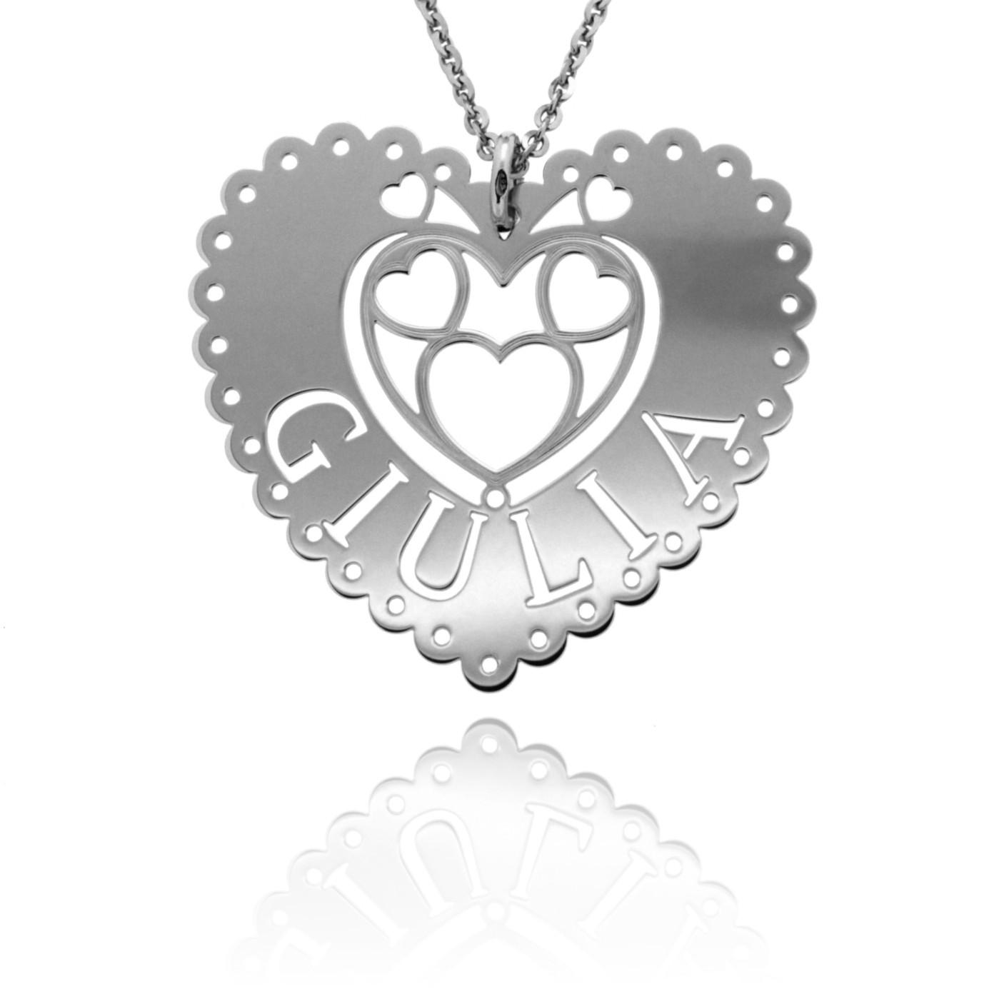 Queen of Hearts (collana bianca)
