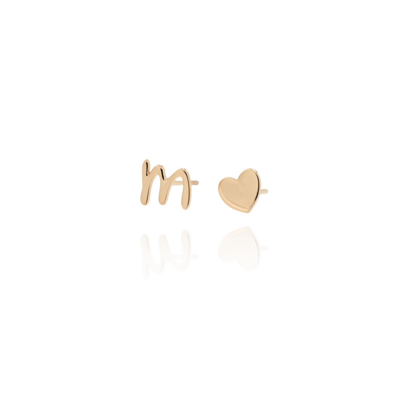 nuovo di zecca b4133 d1a51 Toon - orecchini con iniziale e cuore