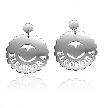 Daisy in Love grandi - orecchini personalizzabili con nome