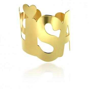 Bracciale personalizzabile con Nome maxi giallo