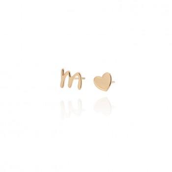 Toon - orecchini con iniziale e cuore