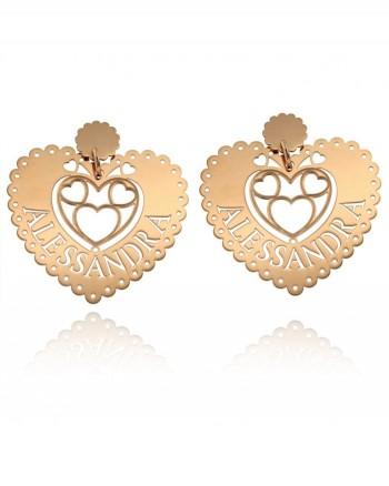 Queen of Hearts - orecchini con Nome