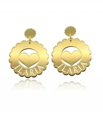 Daisy in Love - orecchini personalizzabili con nome