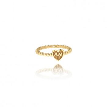 Venus - anello personalizzabile (giallo)